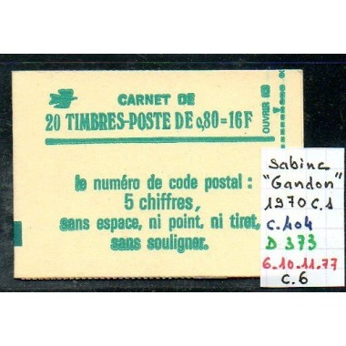 Carnet moderne 1970 C1