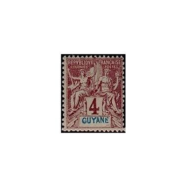 Guyane N° 032 Obli