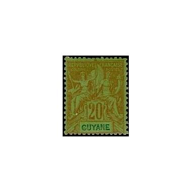 Guyane N° 036 Obli